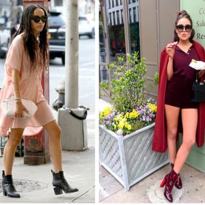 COLLAGE ANKLE BOOTS