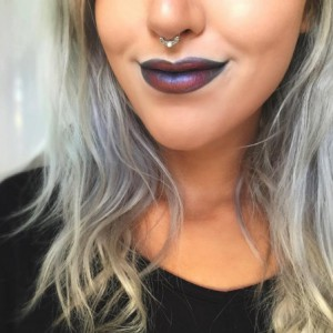 oil-slick lips