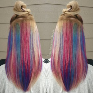 rainbow underlights are the crazy new hair trend on