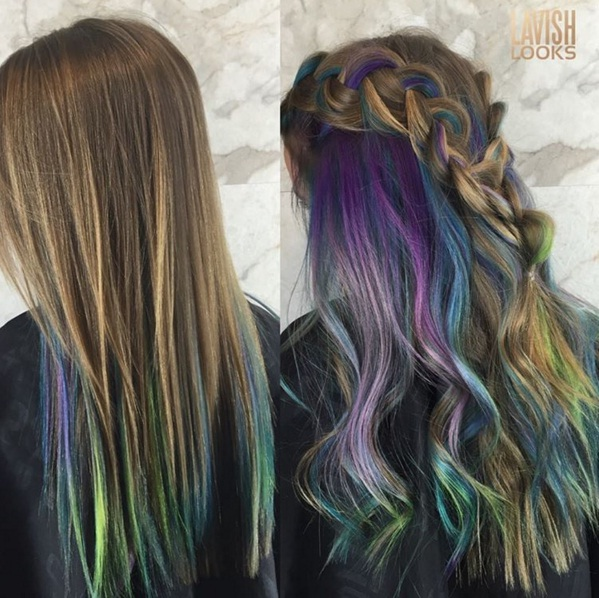 Rainbow Underlights Are The Crazy New Hair Trend On Instagram | BEAUTY