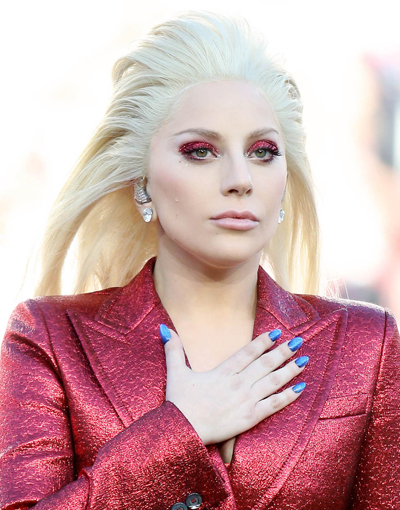 Lady Gaga Sings The National Anthem At Super Bowl 50