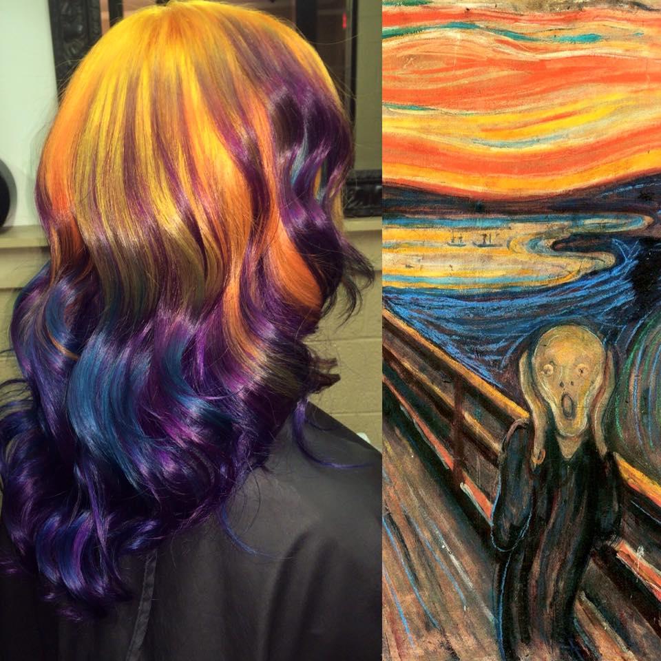 hair colourist creates stunning hair looks inspired by