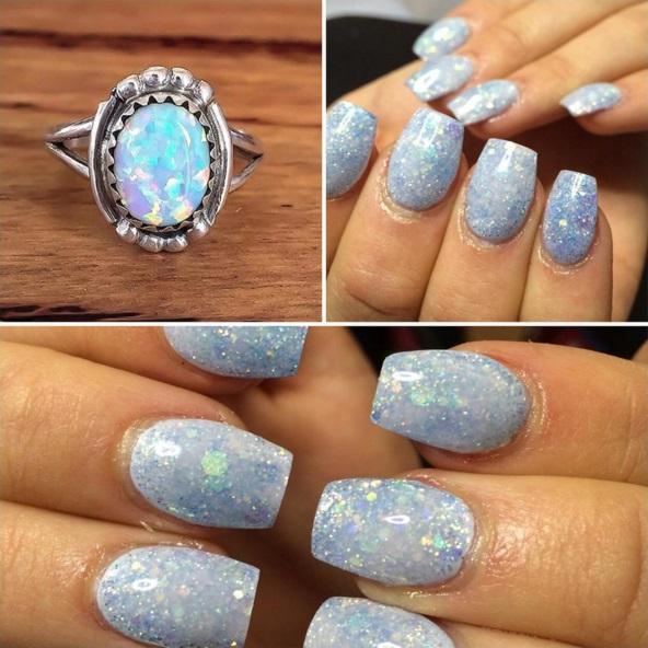 Metallic Opal Nails Make A Shimmering Splash On Social