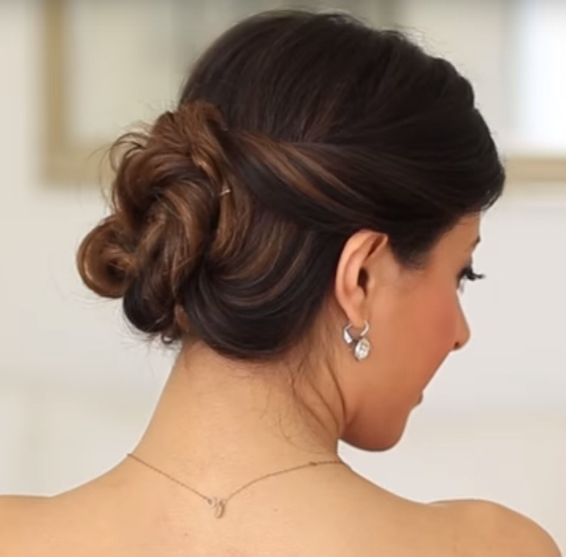 Master The Effortless Curled Bun Hairstyle With This