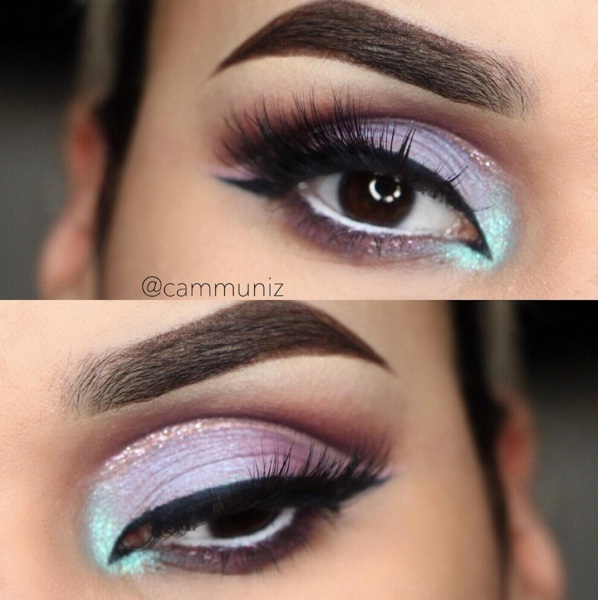 Glitter Cut Crease Eye Makeup Is Officially Ruling ...