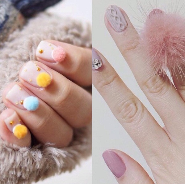 Pom-Pom Nails Are A Playful New Nail Art Trend | BEAUTY