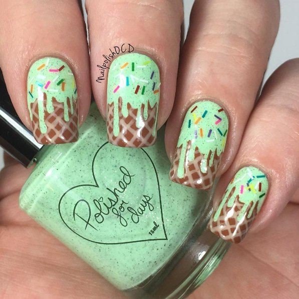 Ice Cream Nails: Ice Cream Nails Are A Sweet And Easy New Manicure Look