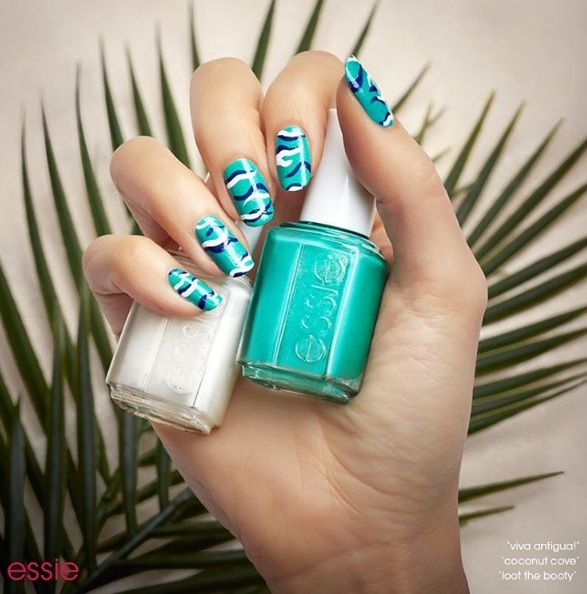 ESSIE NAILS - Pretty Tropical Nail Art Ideas To Brighten Your Fingertips BEAUTY