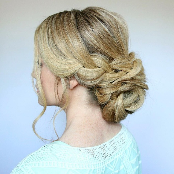 Wedding Hairstyle Low Bun: Get A Braided Low Bun For Summertime