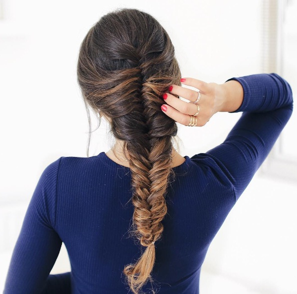 Beat Summertime Frizz With This French Fishtail Braid Beauty