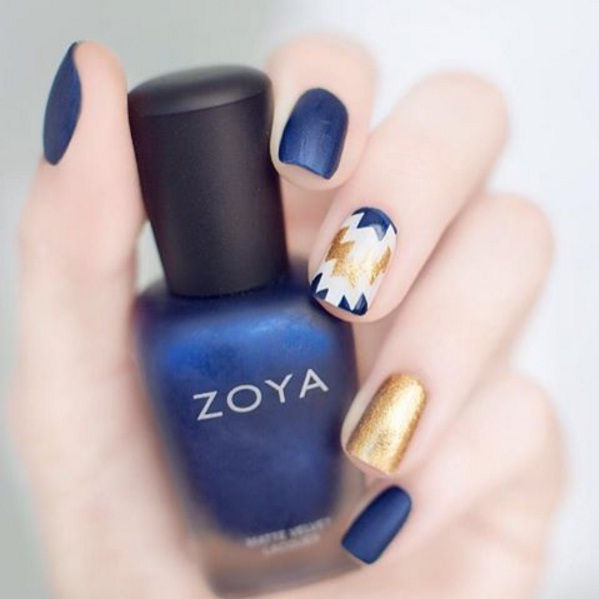 Glamorous Gold Nail Art For Gorgeous Fingertips Beauty