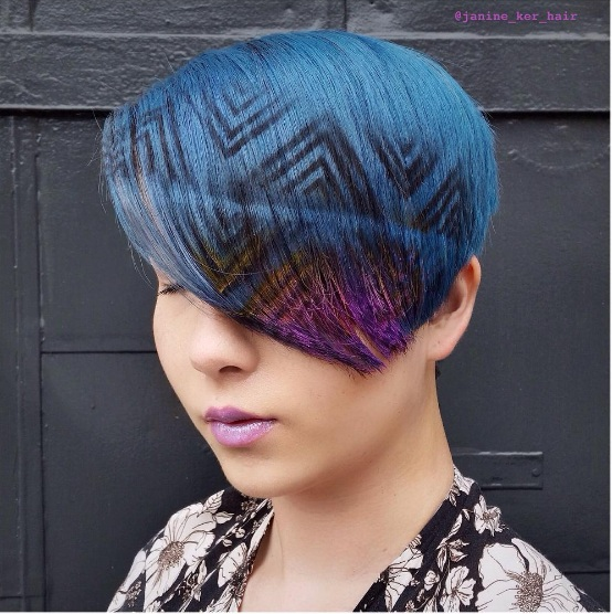 Graffiti Hair Is Summer39s Most Rebellious Trend  BEAUTY