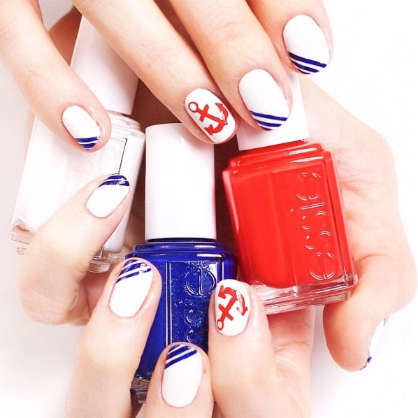 New Nautical Nail Art Ideas For The Ultimate Beauty Voyage Beauty