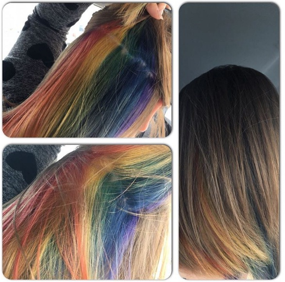 Hidden rainbow hair is a sneaky yet stylish new trend beauty rainbow hair 3 pmusecretfo Gallery