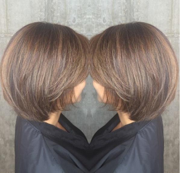 brunette-highlights