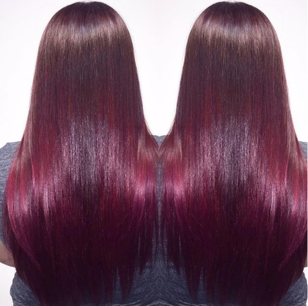 Wine Red Shades Make A Splash As A Hair Colour Trend Beauty
