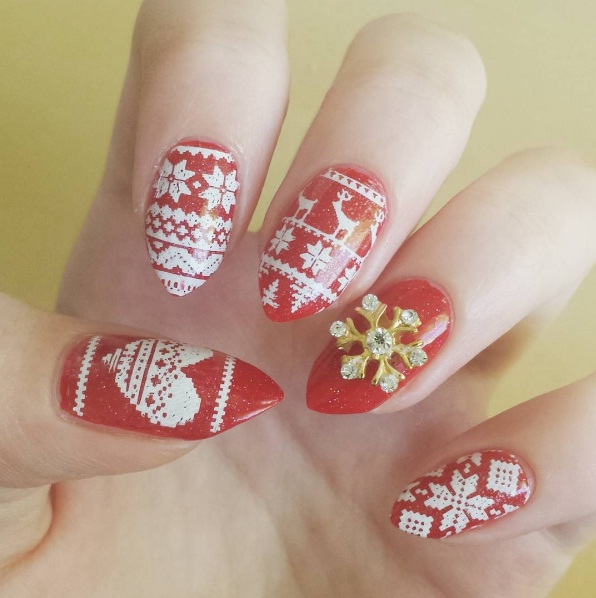 Фото ногти дизайн зима 2017-2018