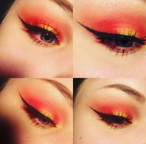 sunset eyeshadow is a scorching new makeup look  beauty