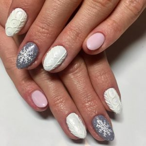 embrace winter with these snowflake nail art ideas  beauty