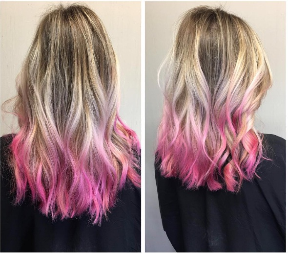 Pink Tips Are A Sweet And Girly Valentine's Day Hair Look ...