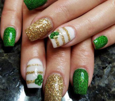 Four Leaf Clover Nail Art Beauty