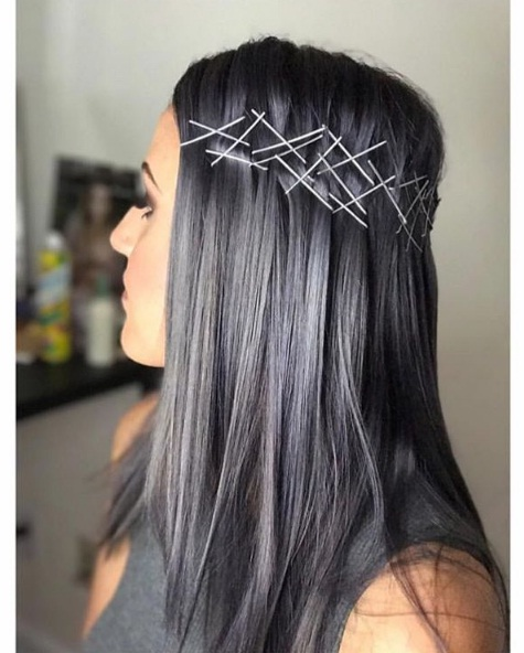 Charcoal hair is a dark alternative to rainbow locks beauty - Couleur gris charcoal ...