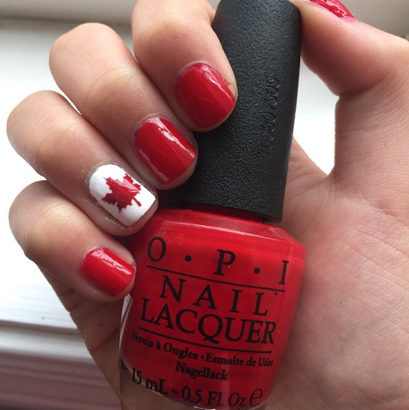Celebrate Canada\'s 150th With These Canada Day Nail Art Ideas | BEAUTY