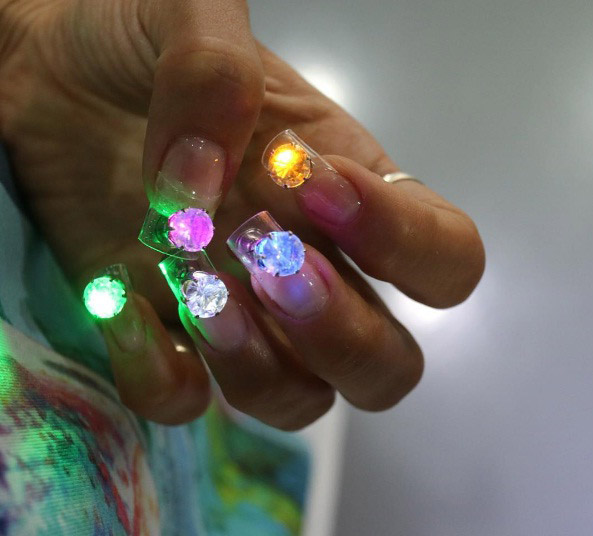 The Most Outrageous New Nail Trend Is Disco Nails