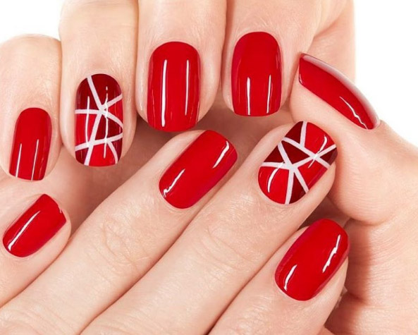 Ly Glossy Red Polish To The Surface Of Your Nail Tips And Allow Vibrant Hue Catch Spotlight