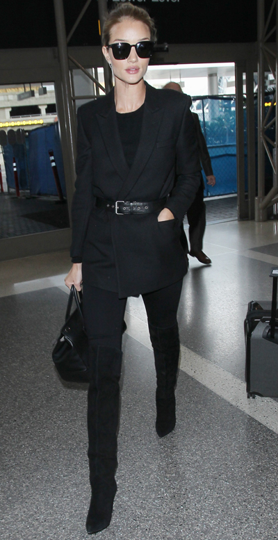 2418c5eb160 Steal Rosie Huntington-Whiteley s Black Boyfriend Blazer and Over ...