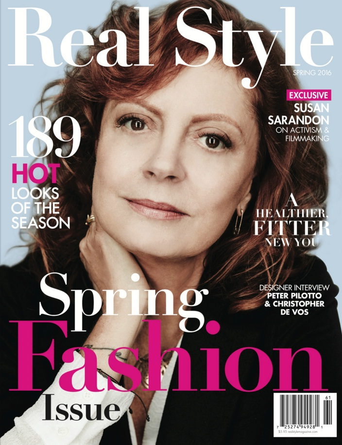 susan sarandon covers real style 39 s new spring 2016 issue fashion