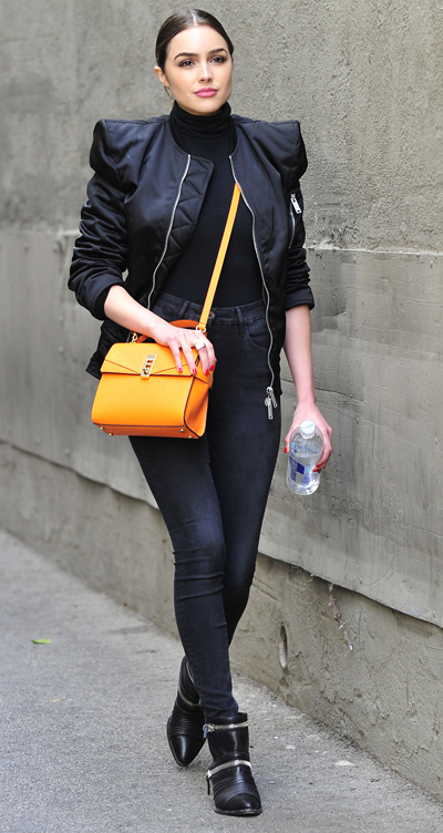 Olivia Culpo on Her Way To an Early Meeting