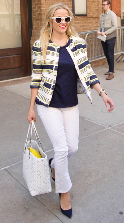 Reese Witherspoon Leaving the Greenwich Hotel