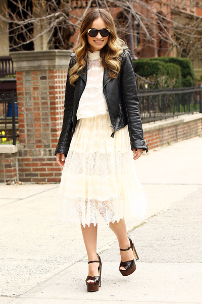 Olivia Wilde Spotted Wearing H&M Conscious Exclusive Collection in Manhattan