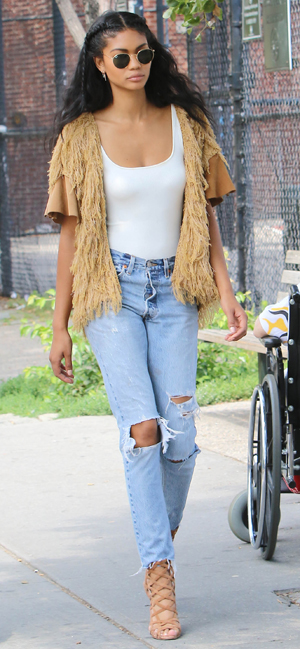 Chanel Iman Having Lunch at Da Silvano in the West Village