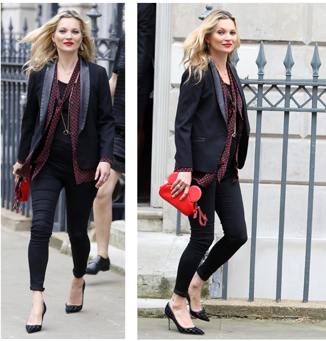 Get Kate Moss' Playful Black And Red Street Style Now ...