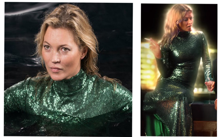 Get Kate Moss\' Green Sequined Gown From \