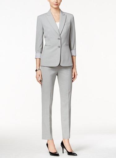 grey pantsuit