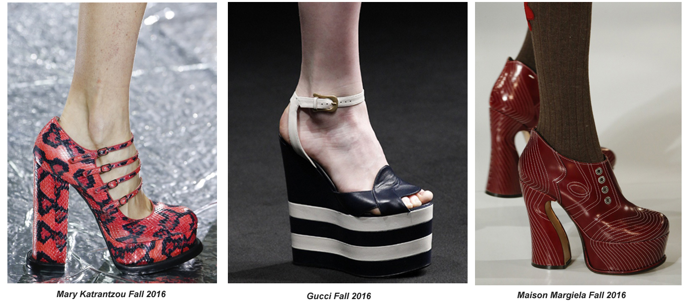 Sky High Platforms Are The Funky Footwear Fad For Fall 2016 Fashion