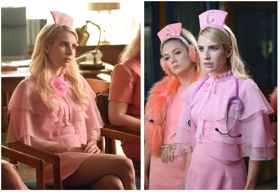 Steal Emma Roberts Killer Pink Scream Queens Outfit For Halloween 2016 Fashion