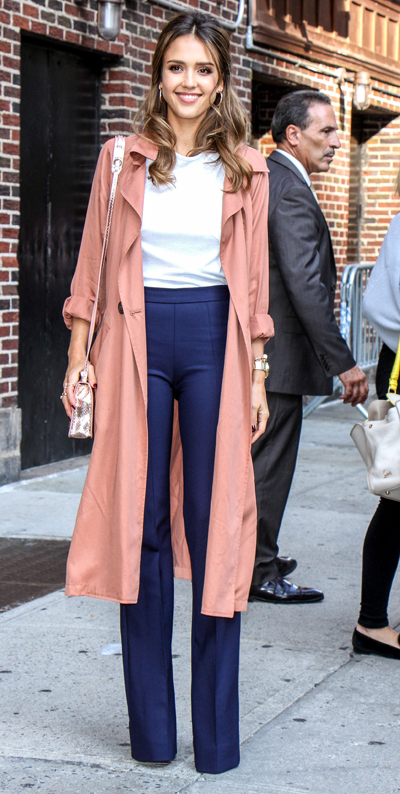 Jessica Alba Visits 'The Late Show with Stephen Colbert'