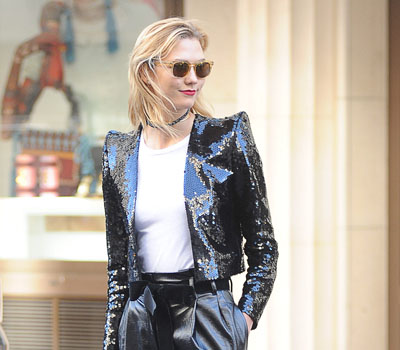 October 04, 2016: Karlie Kloss spotted out and about in Paris, France during Paris Fashion Week. Mandatory Credit: INFphoto.com Ref: infswich-02 -     Editorial Rights Managed Image - Please contact www.INSTARimages.com for licensing fee email sales@instarimages.com - Image or video may not be published in any way that is or might be deemed defamatory, libelous, pornographic, or obscene / Please consult our sales department for any clarification or question you may have - http://www.INSTARimages.com reserves the right to pursue unauthorized users of this image or video. If you are in violation of our intellectual property you may be liable for actual damages, loss of income, and profits you derive from the use of this image or video, and where appropriate, the cost of collection and/or statutory damage.