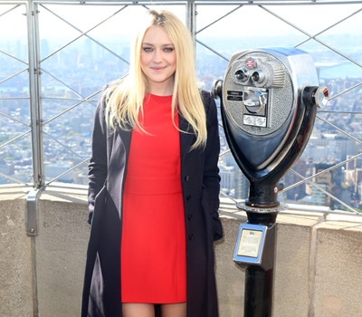 Dakota Fanning Lights Up The Empire State Building