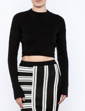 black-ribbed-sweater