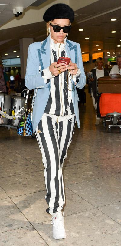 1a481d43c96 Priyanka Chopra   Rita Ora Stun In Striped Airport Style Looks