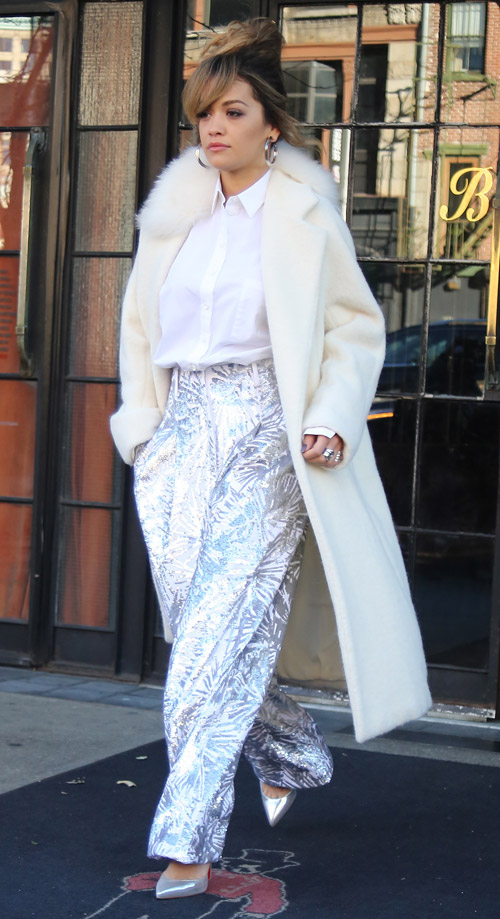 Celebrity Fashion Trend Alert White Winter Coats Fashion