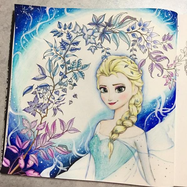 Frozen Watercolor Book Coloring Page