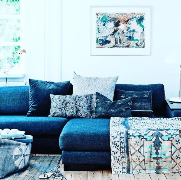 A New Decorating Trend For 2016: Denim Décor Is A Surprising New Interior Design Trend