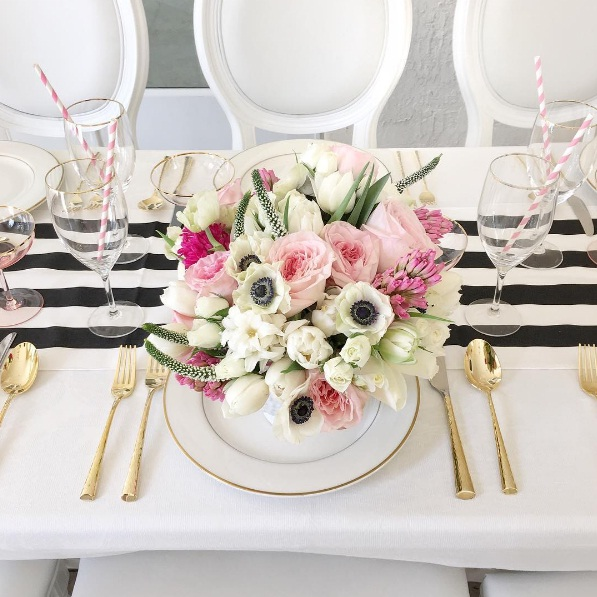 PINK AND WHITE FLORALS