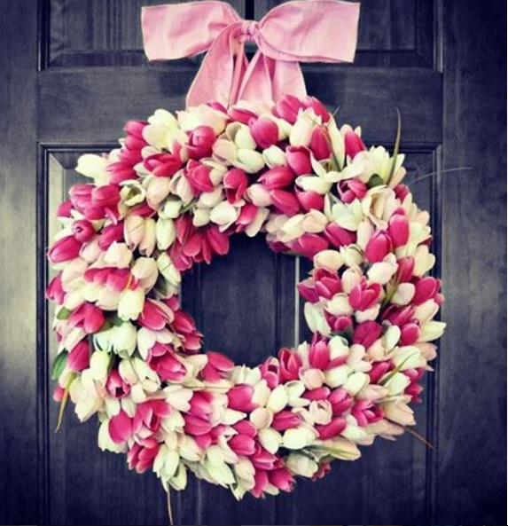 tulip wreath featured img